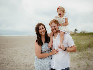 Family Beach Session - Cherie Down Park - Cape Canaveral, Florida