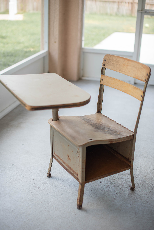 Old School Desk Photo Prop Makeover