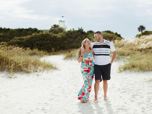Couples Beach Session - Jetty Park Beach - Cape Canaveral, Florida