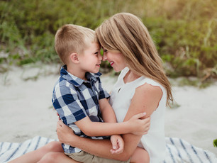 Mommy and Me Beach Session - Cocoa Beach Towers - Cocoa Beach, Florida