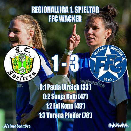 Team 1: Sieg beim FC Forstern