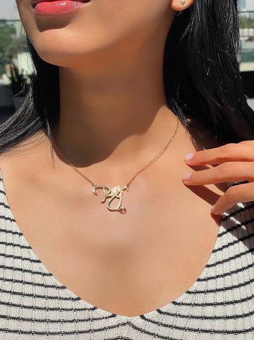 Collar PAZ #7 con cristal Swarosvki