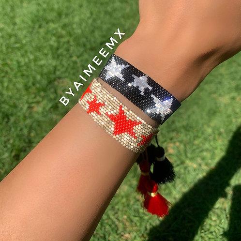 2 pulseras estrellas