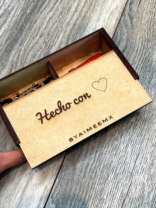 Caja de regalo (personalizable) 2 cajoncitos