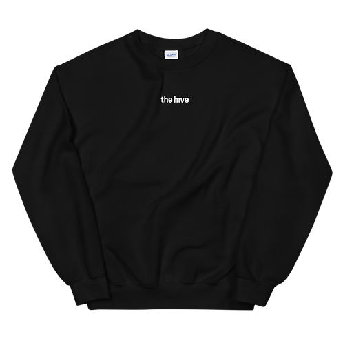 the hive | crewneck sweater | black | unisex