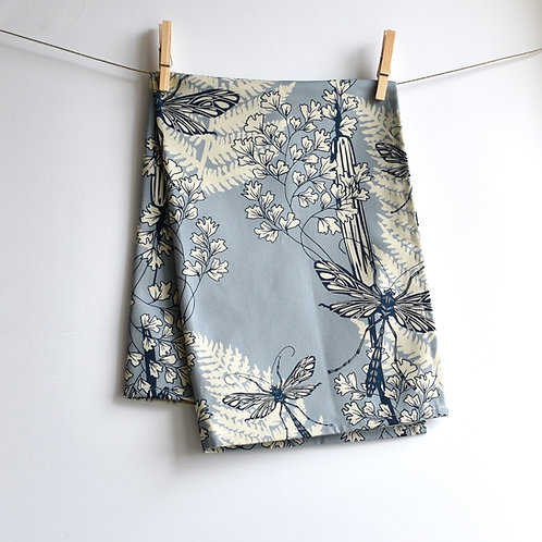 Dragonfly Wings Tea Towel - Sky
