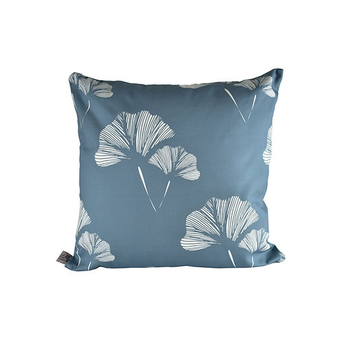 Ginkgo Leaf Cushion - Cornflower