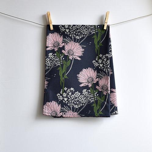 Calendula Tea Towel - Blackcurrant