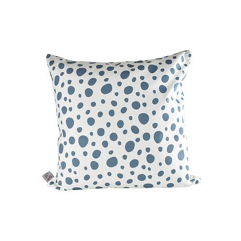 Pebbles Cushion - Almond/Cornflower