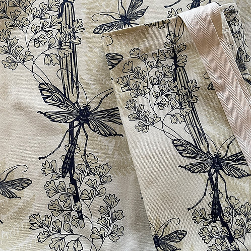 Dragonfly Wings Apron - Almond