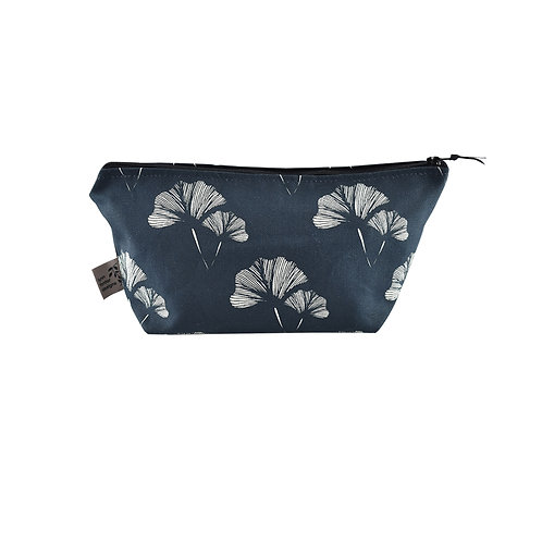 Ginkgo Leaf Cosmetic Bag - Blueberry