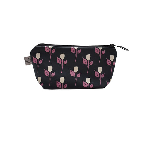 Tulip Dance Cosmetic Bag - Blueberry/Ruby Pink