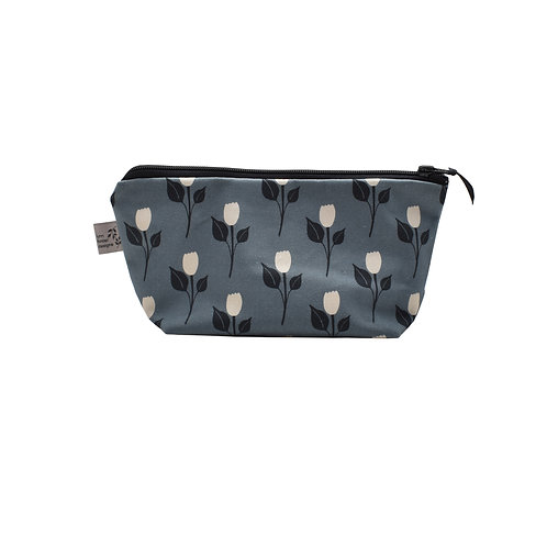 Tulip Dance Cosmetic Bag - Steel Blue