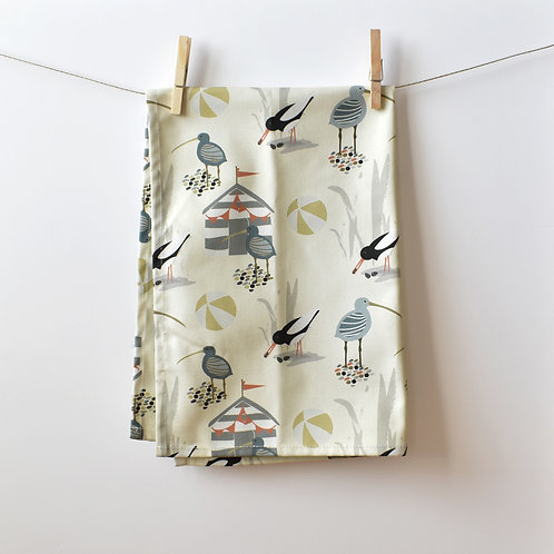 Pebble Beach Tea Towel - Almond