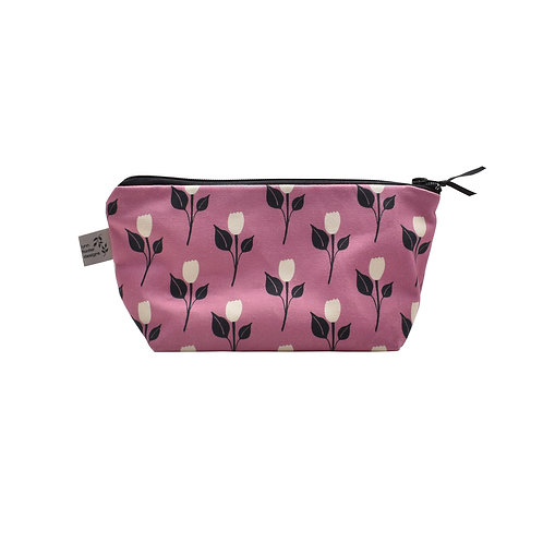 Tulip Dance Cosmetic Bag - Ruby Pink