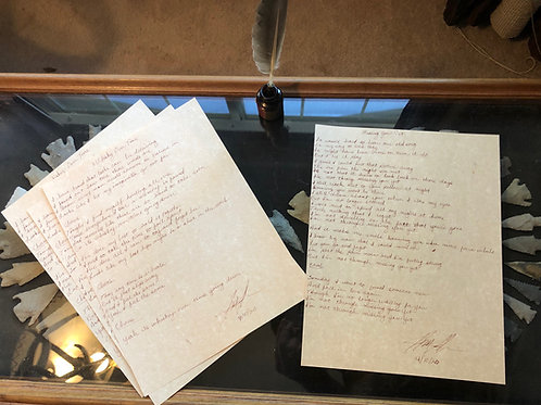 Hand Written Lyric Sheets