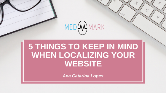 Five things to keep in mind when localizing your website