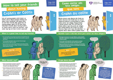 How to tell your friends about having Crohn's or Colitis