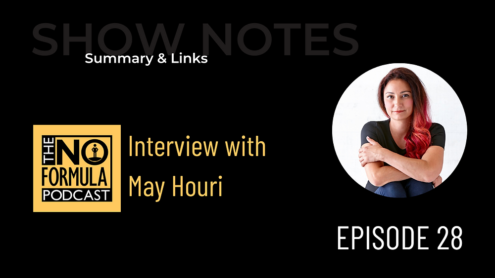 Interview with May Houri on The No Formula Podcast