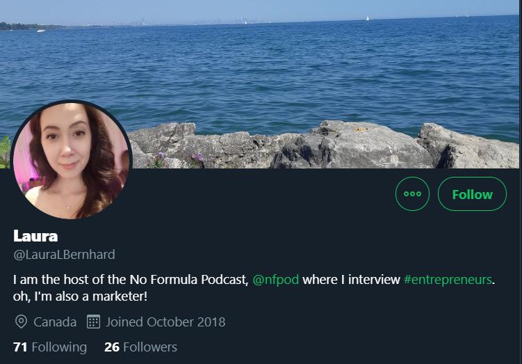 Laura L Bernhard's Twitter Account