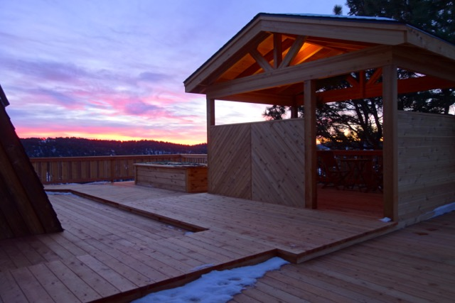 Custom Redwood Deck in Golden