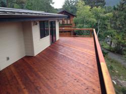 Custom Redwood Deck in Evergreen