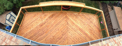 Custom Redwood Deck in Lakewood