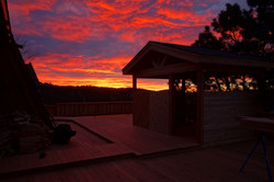 Custom Redwood Deck Sunrise