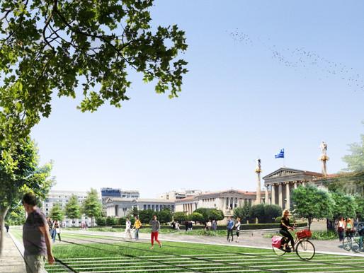 Ποδηλατόδρομος στην Αθήνα αλλάζει την όψη της