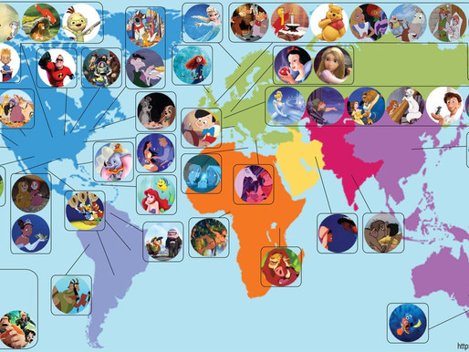 Οι τοποθεσίες 52 ταινιών κινουμένων σχεδίων της Disney στο χάρτη