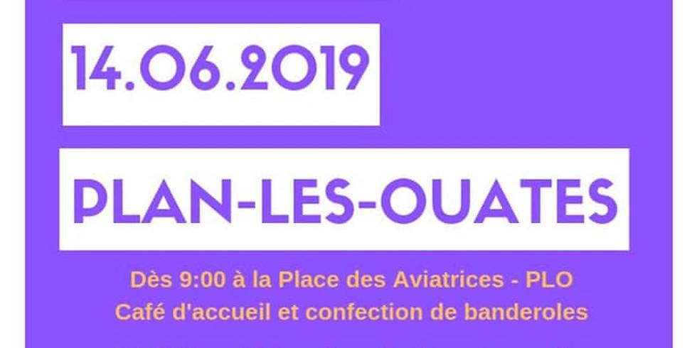 Grève féministe, Plan-les-Ouates - rebaptême de la Place des Aviatrices