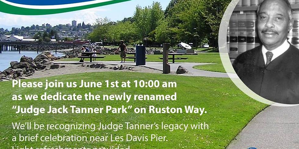 Judge Jack Tanner Park Dedication