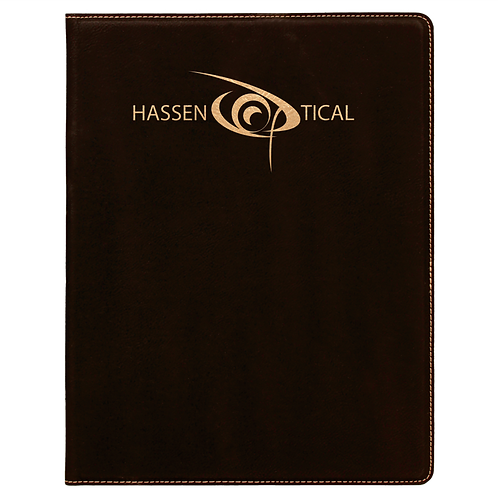 Leatherette Small Portfolio with Notepad