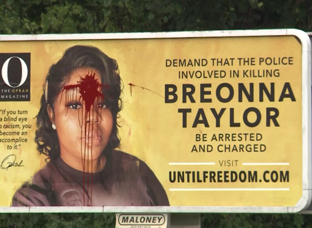 Breonna Taylor's billboard was Vandalized in Louisville