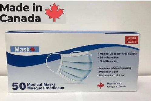 3 Ply Masks Medical Grade Box of 50