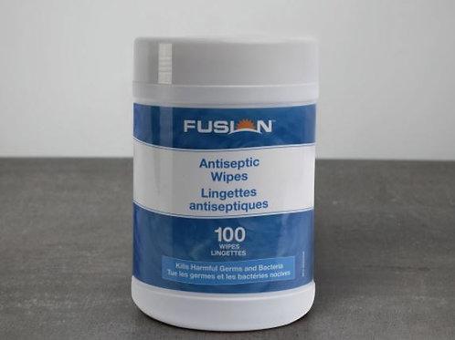 Fusion Hand Sanitizing Wipes Alcohol Based 100 Sheets