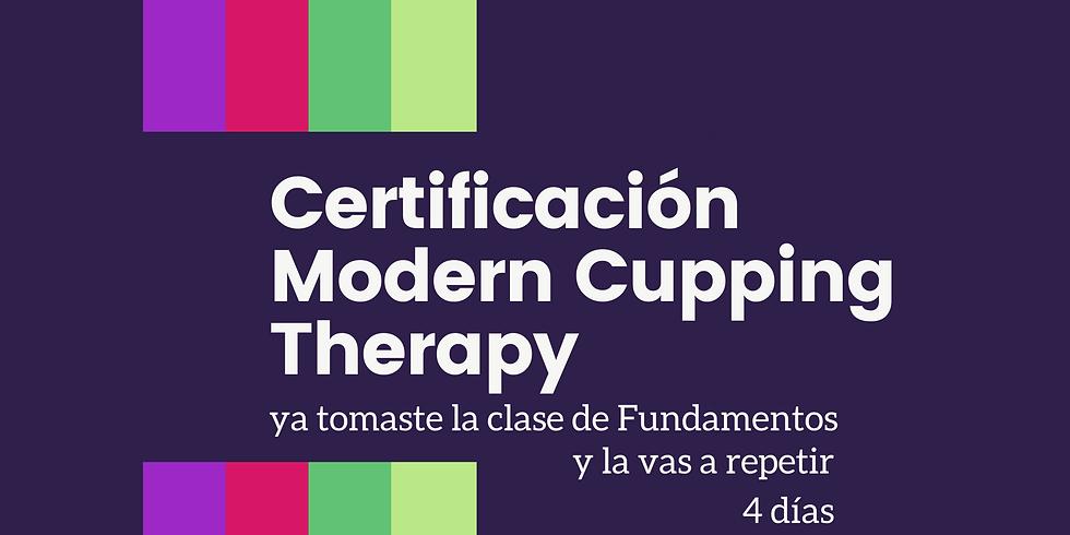 Certificación de Modern Cupping Therapy© +