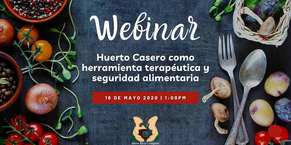 Webinar: Huerto Casero como herramienta terapéutica y seguridad alimentaria