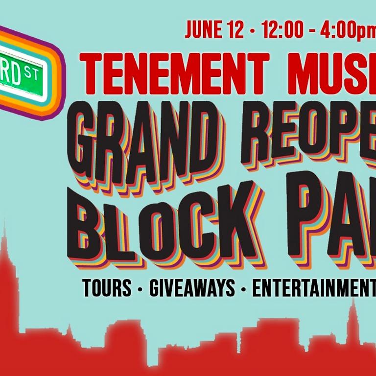 NAIC-NY at Tenement Museum's Grand Reopening Block Party