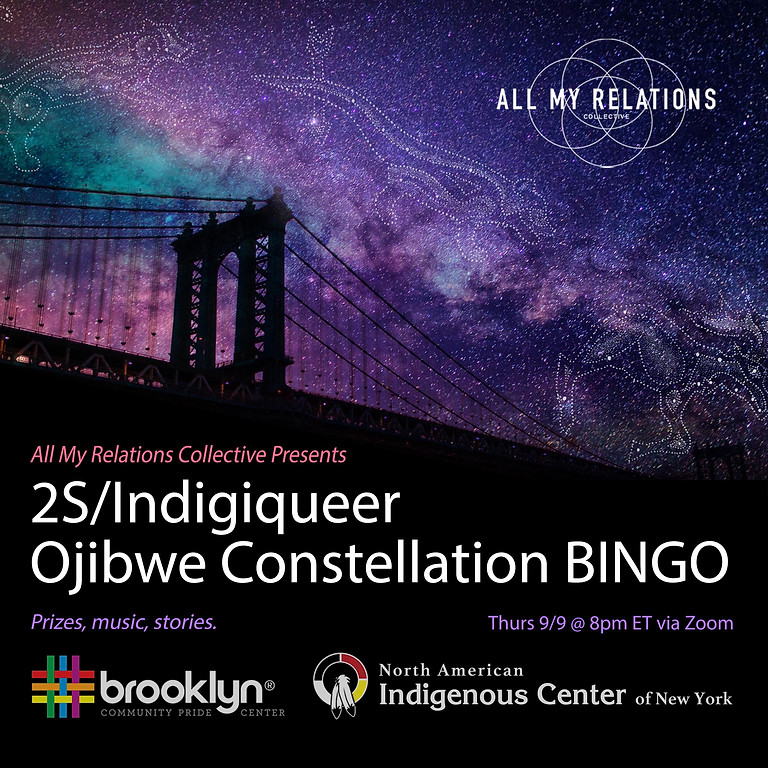 2S/Indigiqueer Ojibwe Constellation BINGO