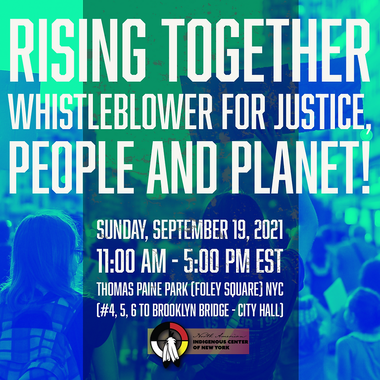 RISING TOGETHER I'm a whistleblower for Justice, People and Planet!