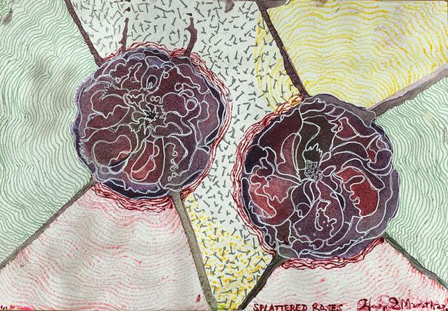 Splattered Roses