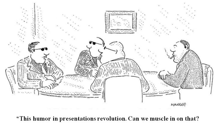 Funny Cartoon about Humor in Presentations
