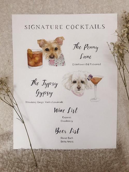 Custom Pet Bar Sign