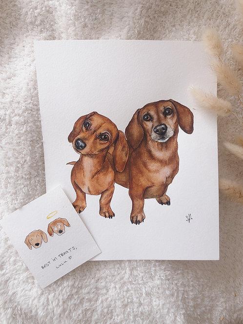 """8x10"""" Two Pet Portrait"""