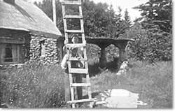 Ladder boys at the cottage