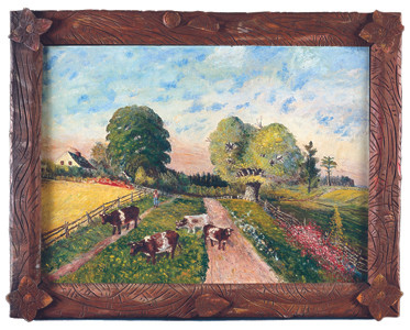 Steam Mill Homestead Road in handmade frame