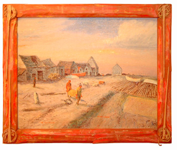 Port Lorne in handmade frame