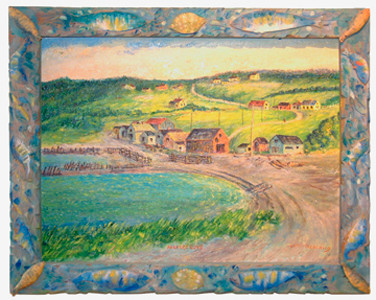 Parkers Cove in handmade frame