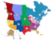 Porsche Club of America Zone Map